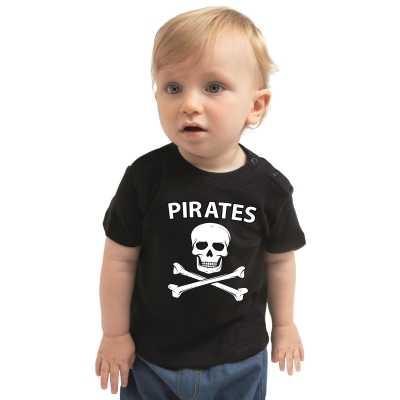 Piraten verkleedkleding shirt zwart peuters