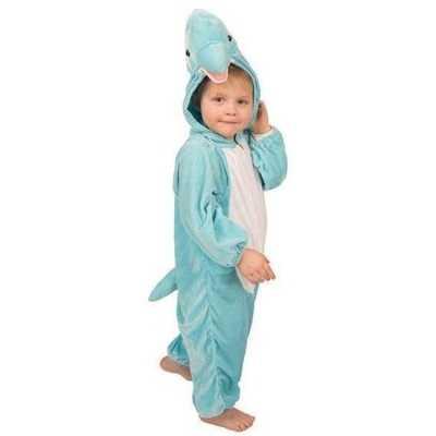 Pluche dolfijnen outfit blauw