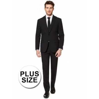 Plus size heren feest outfit zwart