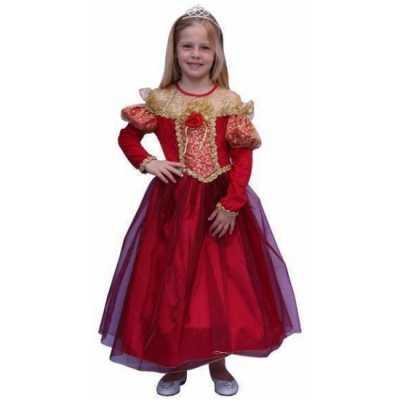 Prinsessen feest outfit meisjes de kleur rood