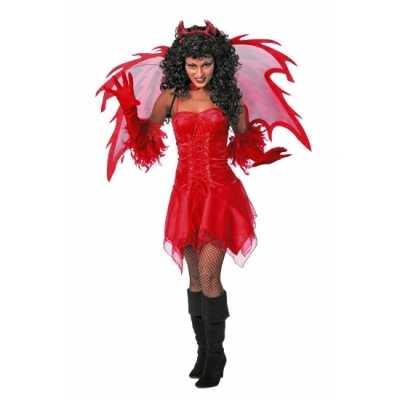 Rode dames feest jurk