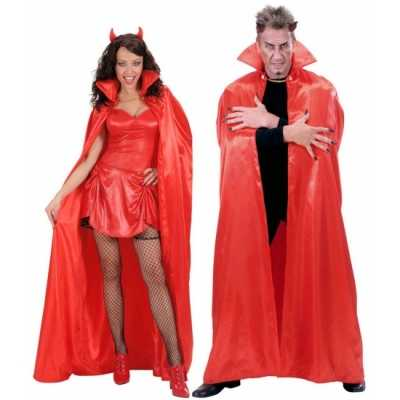 Rode verkleed cape volwassenen