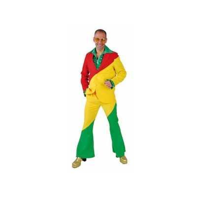 Rood/geel/groene feest outfits volwassenen