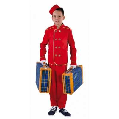 Rood hotelbediende outfit kinderen