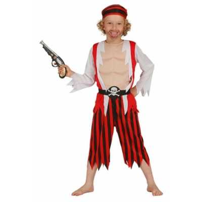 Rood piraten feest outfit kinderen