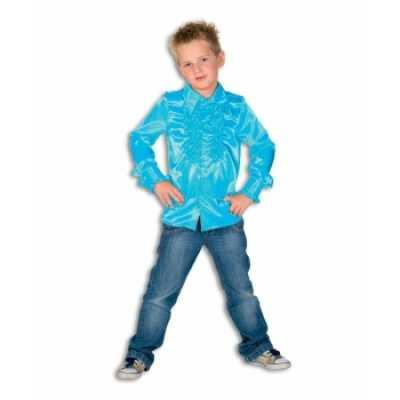 Rouche blouse jongens blauw