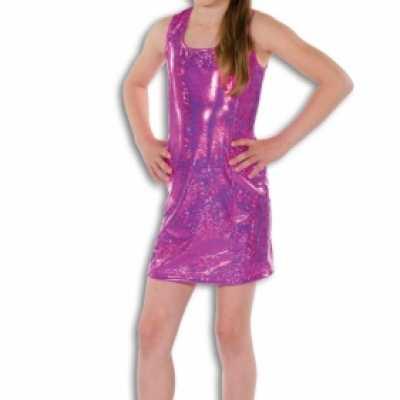 Roze glamour jurk meisjes