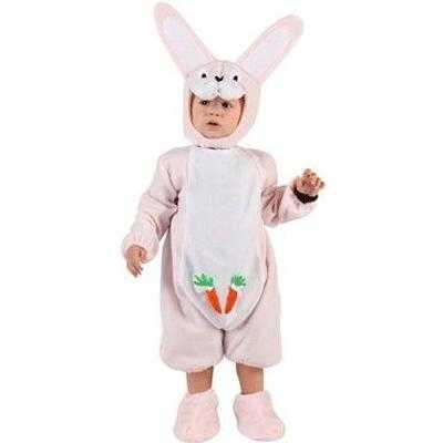 Roze konijnenpakje een baby