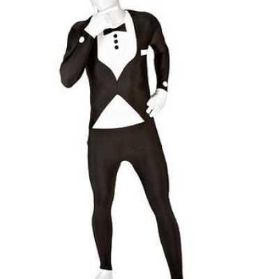 Second skin outfit smoking zwart