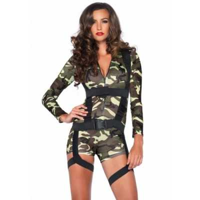 Sexy commando feest outfit dames