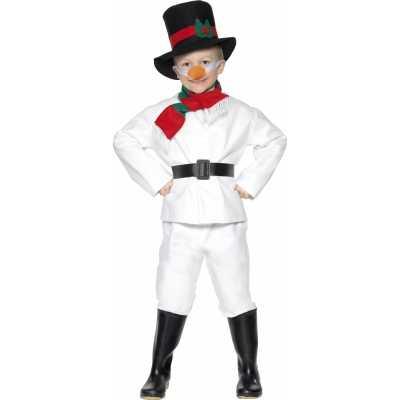 Sneeuwpop feest outfit kinderen