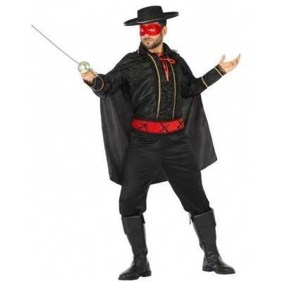 Spaanse gemaskerde held verkleed feest outfit heren