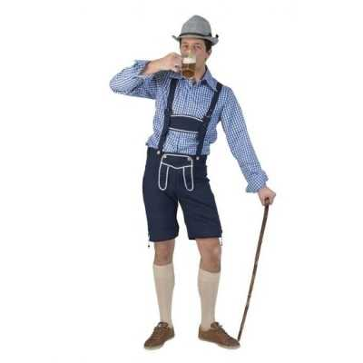 Tiroler blauwe broek heren