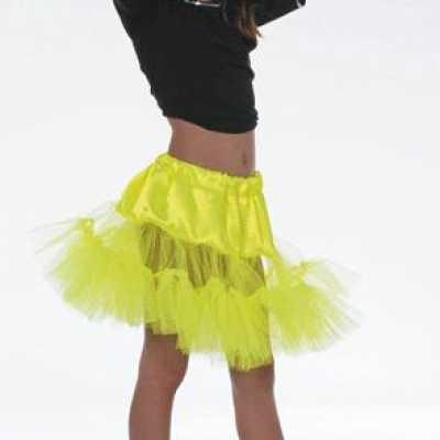 Tule petticoat geel meiden