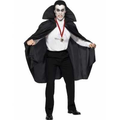 Vampier cape opstaande kraag