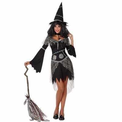 Verkleed outfit zwarte heks