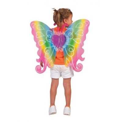 Verkleed vlinder vleugels kinderen regenboog