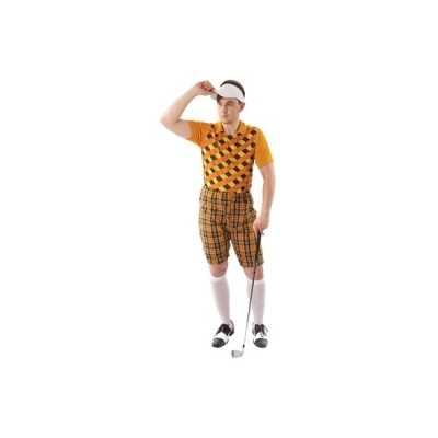 Verkleedkleding golfer oranje heren
