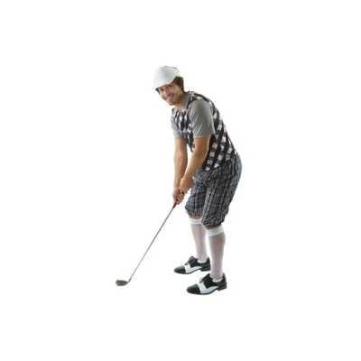 Verkleedkleding golfer zwart heren