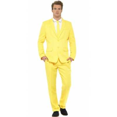 Verkleedkleding heren maatpak geel