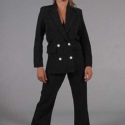 Vrouwen gangster feest outfit zwart
