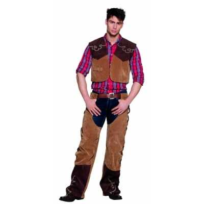 Wild west cowboy feest outfit bruin