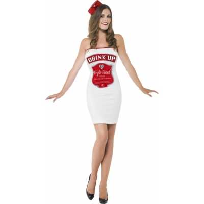 Witte dames feest outfits dranklabel