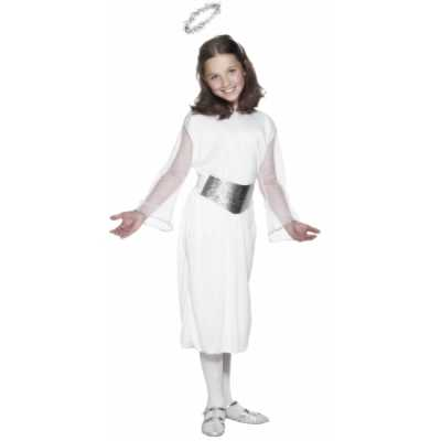 Witte engelen jurk riem aureool meiden