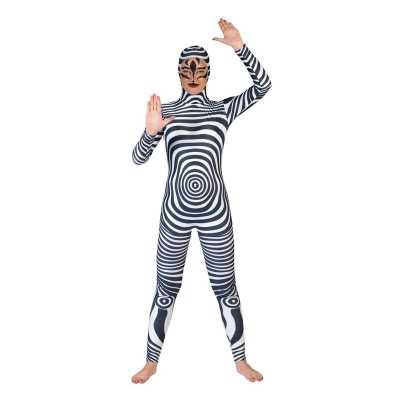 Zebra catsuit/second skin volwassenen