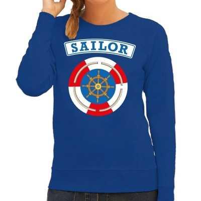 Zeeman/sailor verkleed sweater blauw dames