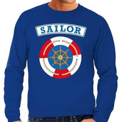 Zeeman/sailor verkleed sweater blauw heren