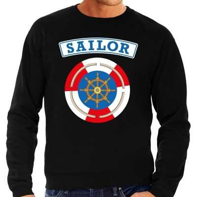 Zeeman/sailor verkleed sweater zwart heren