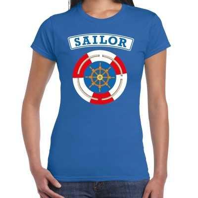 Zeeman/sailor verkleed t shirt blauw dames