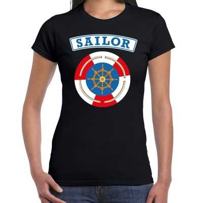 Zeeman/sailor verkleed t shirt zwart dames