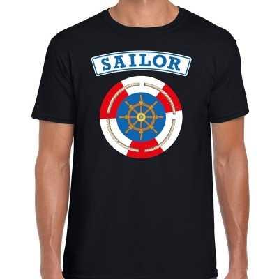 Zeeman/sailor verkleed t shirt zwart heren
