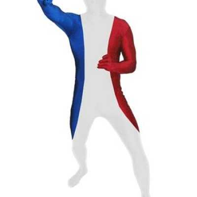 Zentai outfit franse vlag