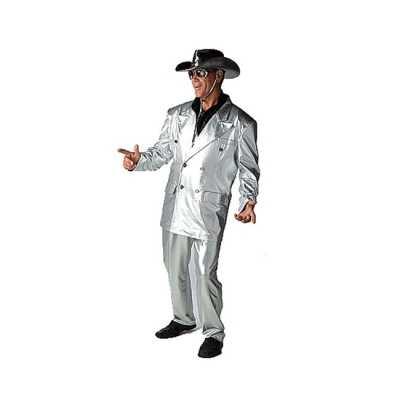 Zilveren bling feest outfits heren