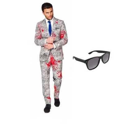 Zombie heren feest outfit maat 50 (l) gratis zonnebril