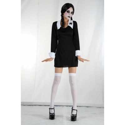 Zwart Halloween jurkje Wednesday meisjes