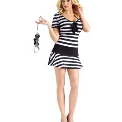 Zwart wit gestreept jurkje