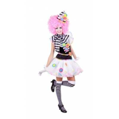 Zwart witte clown feest outfits dames