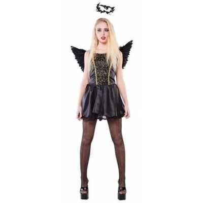 Zwarte engel dames feest outfit