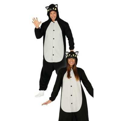 Zwarte kat/poes dieren verkleedpak heren