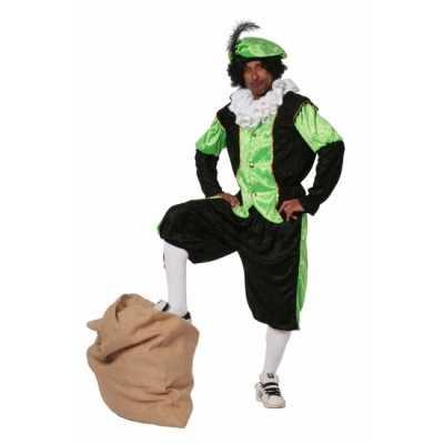 Zwarte Piet feest outfit groen grote maat