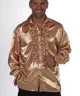 Blouse rouches goud