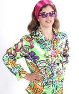 Flower power blouse kids peace