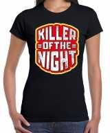 Halloween killer of the night verkleed t-shirt zwart dames