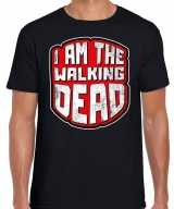 Halloween walking dead verkleed t-shirt zwart heren