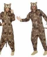 Jumpsuit luipaard all one volwassenen